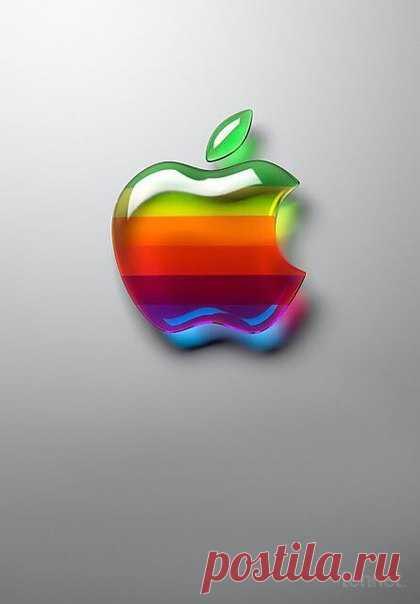 картинки радужного яблока выполнен