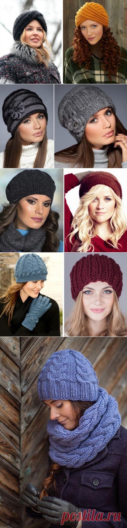 Вязаные шапки для женщин 50 лет - Фото и схемы головных уборов - Видео уроки