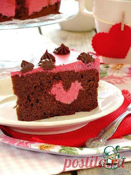 """Торт """"Пурпурное сердце""""  Автор: dolphy"""