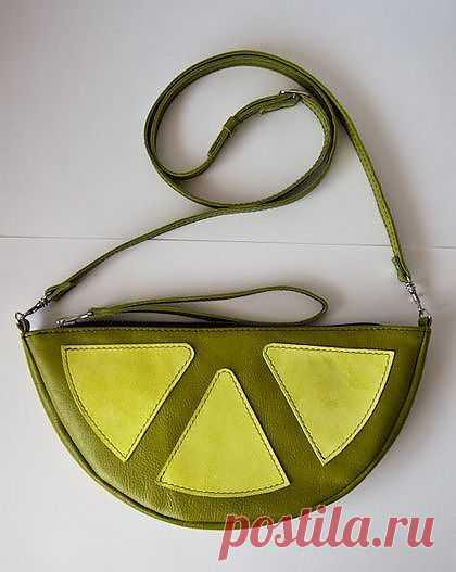 Лаймовая сумочка / Сумки, клатчи, чемоданы / Модный сайт о стильной переделке одежды и интерьера