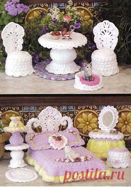 Ажурная мебель для Барби.