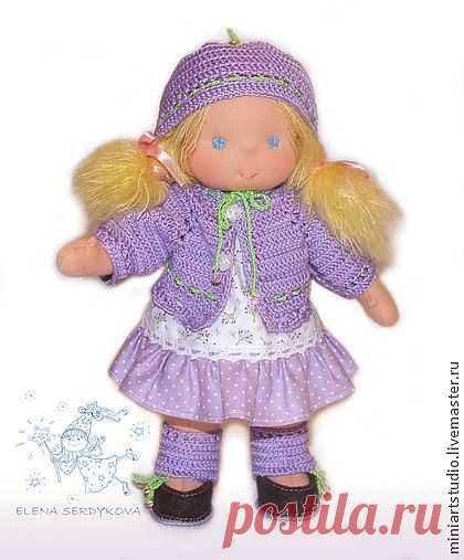 вальдорфская кукла Лапонька - бледно-сиреневый,вальдорфская кукла,вальдорфская игрушка