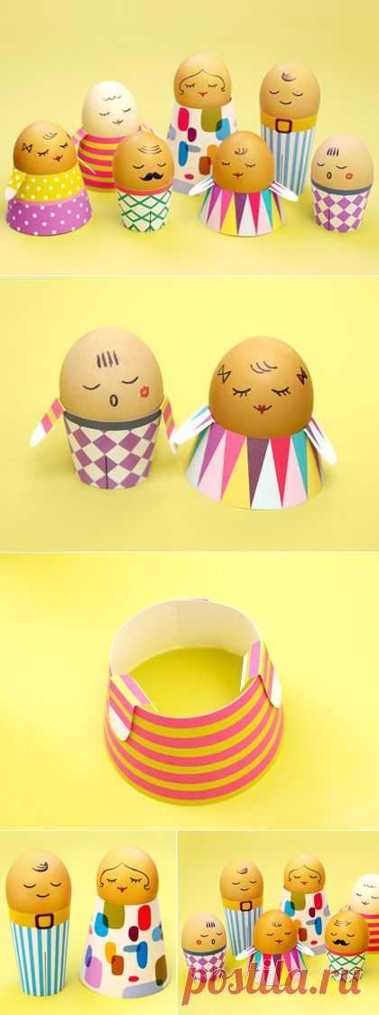 Подставки для пасхальных яиц из бумаги :: Поделки :: Все о детях