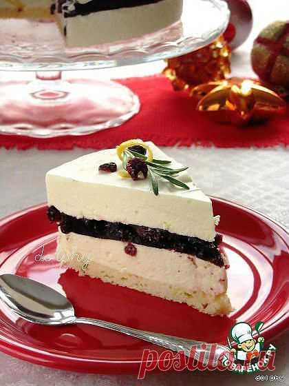Торт-суфле с белым шоколадом и красным вином. Автор: dolphy