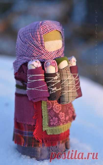 """Кукла """"Семья"""".  Оберег,оберег для дома. Зима еще не скоро..."""