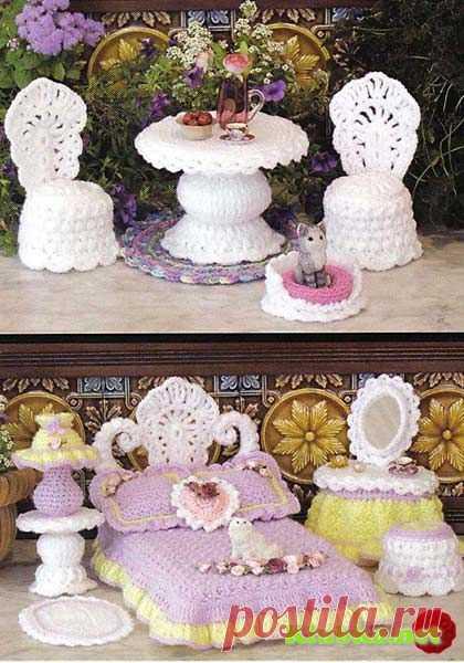 Ажурная мебель для Барби » Клубка.Нет - Все о вязании крючком