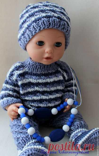 купить вязаная одежда для пупса серый одежда для кукол кукольная