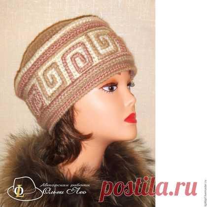 купить вязаная шапка кубанка люкс комбинированный вязаные шапки