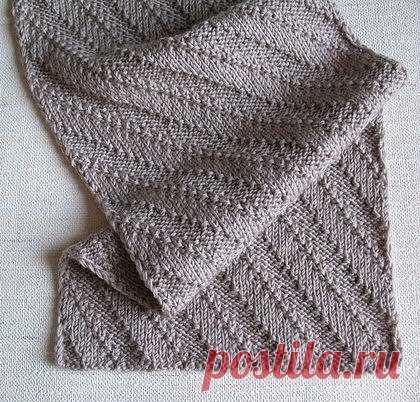 схема мужского шарфа спицами мужской шарф спицами со схемой