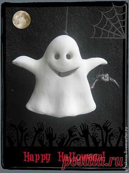 А вы верите в привидения? - белый,колокольчики,привидения,фигурки привидений