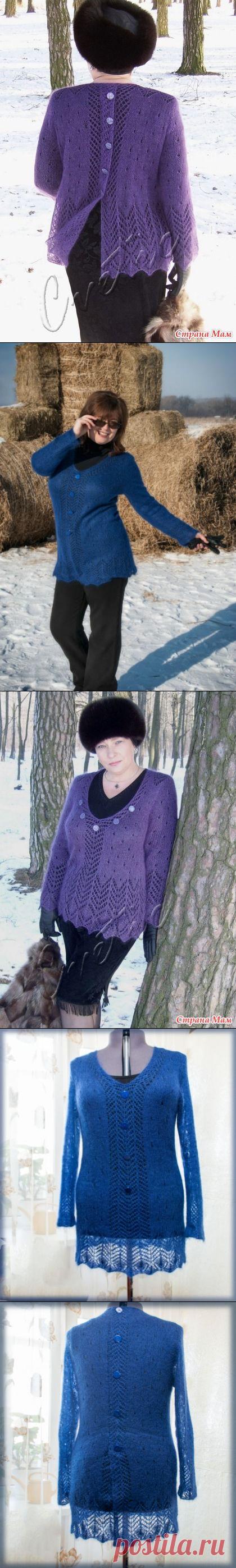 Пуловер и палантин из королевского мохера. - Вязание - Страна Мам