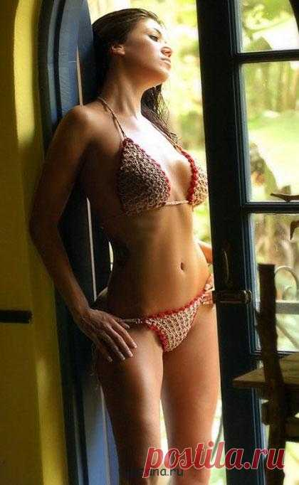 Models of knitted bathing suits for inspiration   Вязана.ru