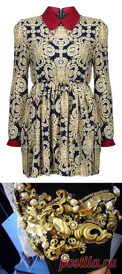 Барочное воспитание-1. Черное и золото / Тенденции / Модный сайт о стильной переделке одежды и интерьера
