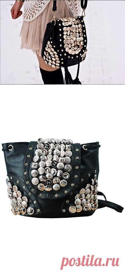 Сумка с пуговицами / Сумки, клатчи, чемоданы / Модный сайт о стильной переделке одежды и интерьера