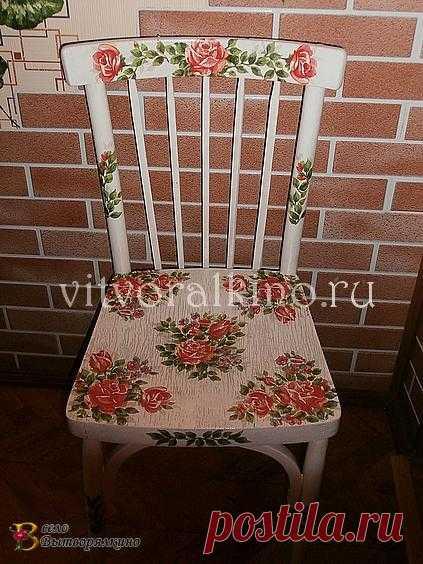 Декор старого стула, под силу каждому!