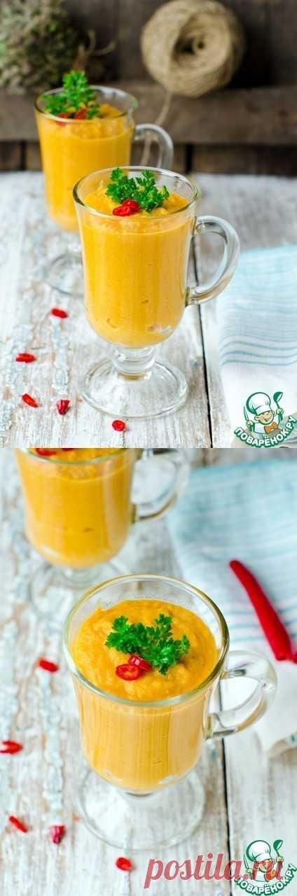 Суп пюре из фасоли и моркови с красным перцем - Постный, не значит не вкусный!!!