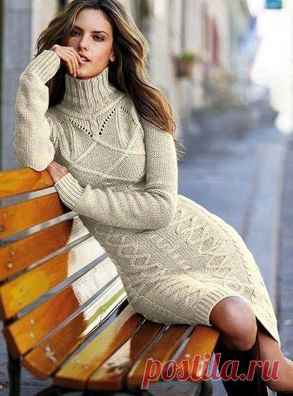 Вязаное платье спицами Victoria's Secret (Вязание спицами) – Журнал Вдохновение Рукодельницы