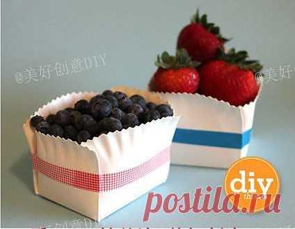 Коробочки из тарелок (Diy) / Упаковка подарков / Модный сайт о стильной переделке одежды и интерьера