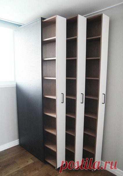 Неординарная задумка книжного шкафа 🏻 Смотрится шикарно