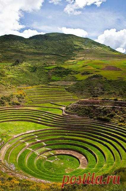 Сельскохозяйственные террасы древних инков. Перу