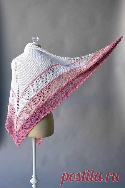 Шаль Be Mine by Rachel Brockman (Вязание спицами) – Журнал Вдохновение Рукодельницы
