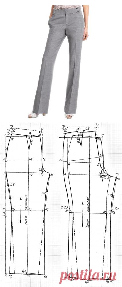 Выкройка и пошив женских брюк: как пошагово построить выкройку и сшить женские брюки с идеальной посадкой