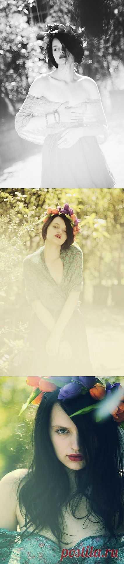 Обруч из тюльпанов / Украшения для волос / Модный сайт о стильной переделке одежды и интерьера