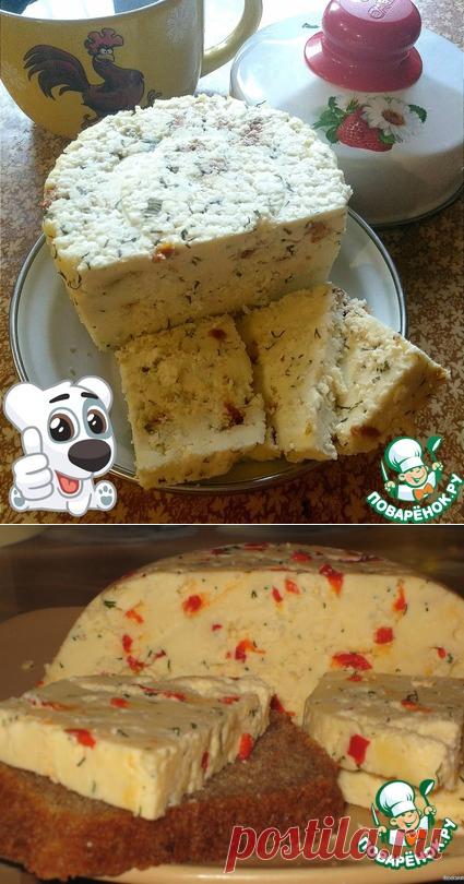 Твердый сыр с перцем и укропом – кулинарный рецепт
