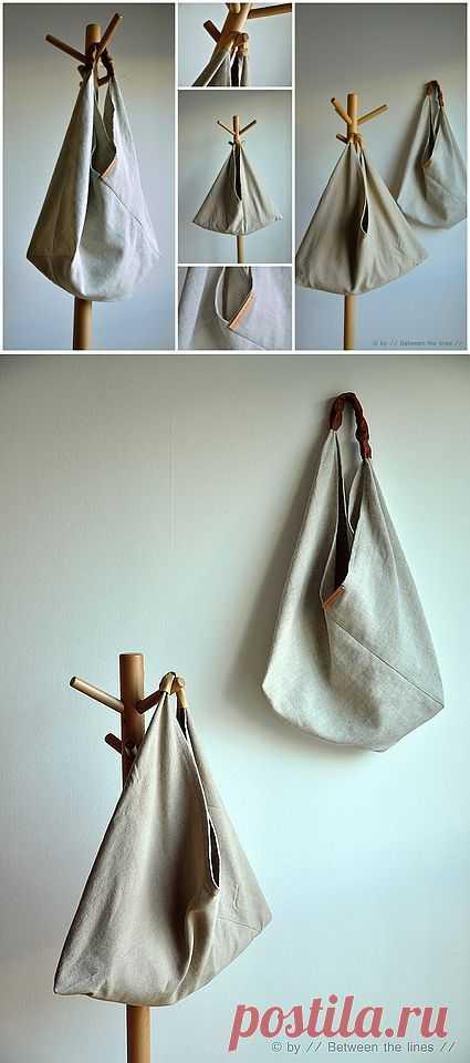 Простая выкройка интересной сумки / Сумки, клатчи, чемоданы / Модный сайт о стильной переделке одежды и интерьера