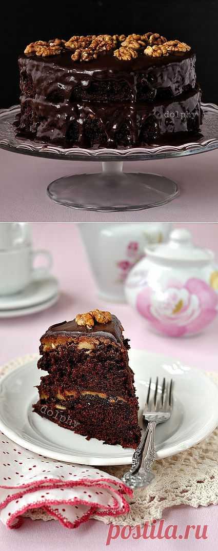 Шоколадный торт с карамельной прослойкой. Автор: dolphy
