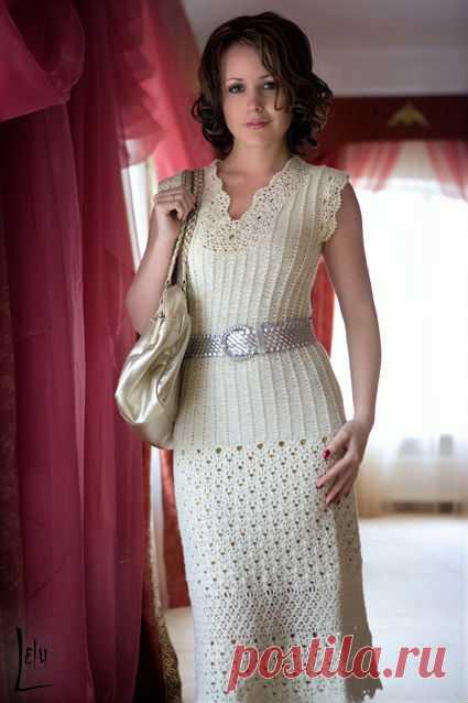 a12417bd3b0 Вязаный крючком женский костюм+СХЕМА. Красивый летний костюм крючком для  женщины