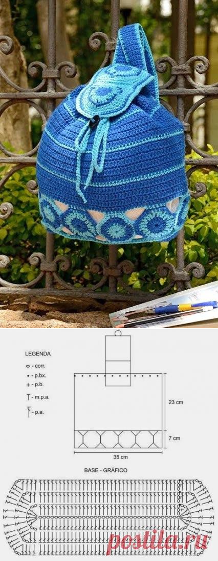 Рюкзак крючком схемы и описание фото