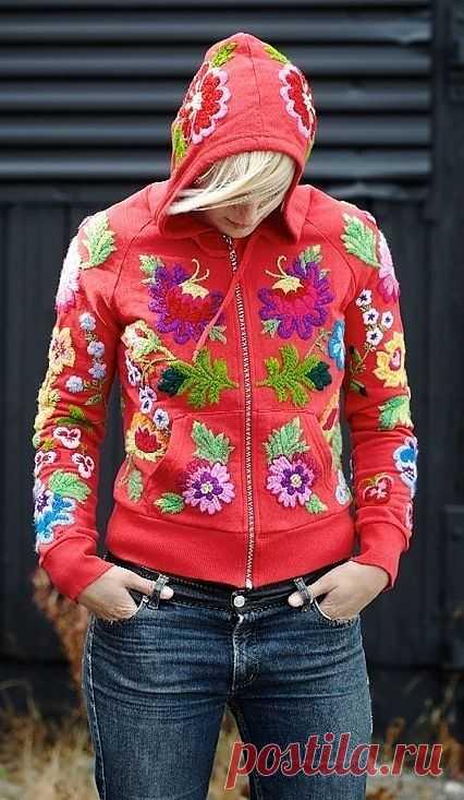 Вышитое худи / Вышивка / Модный сайт о стильной переделке одежды и интерьера