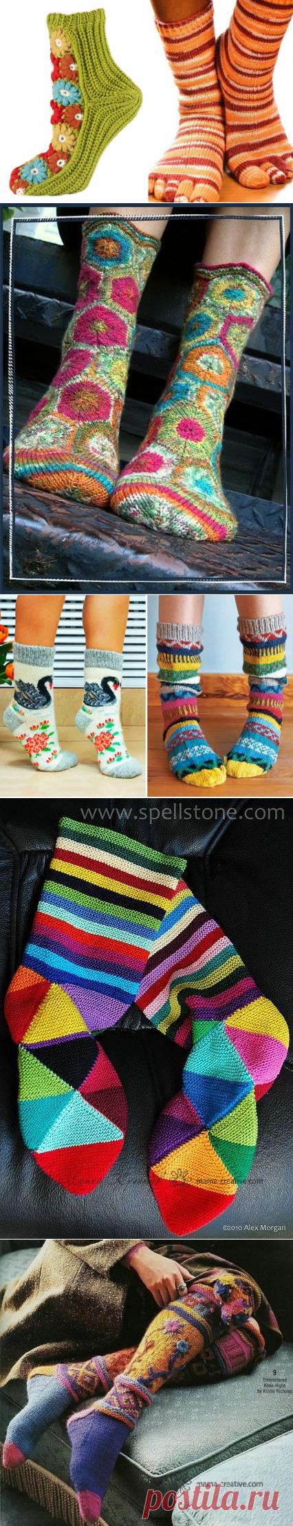 Вязаные носки – самые красивые и теплые модели. Собственоручно cвязанные носки – лучший способ порадовать близких Украсить детские носочки своими руками
