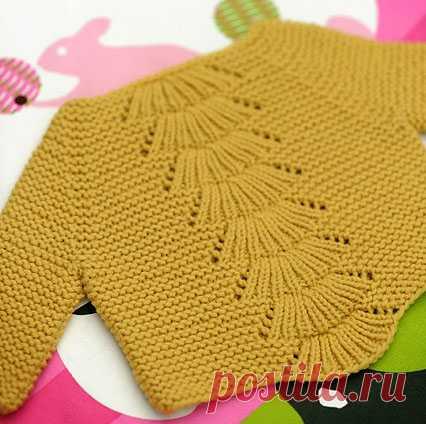 "Пуловер ""Камилла""для младенца | Вязание от А до Я"