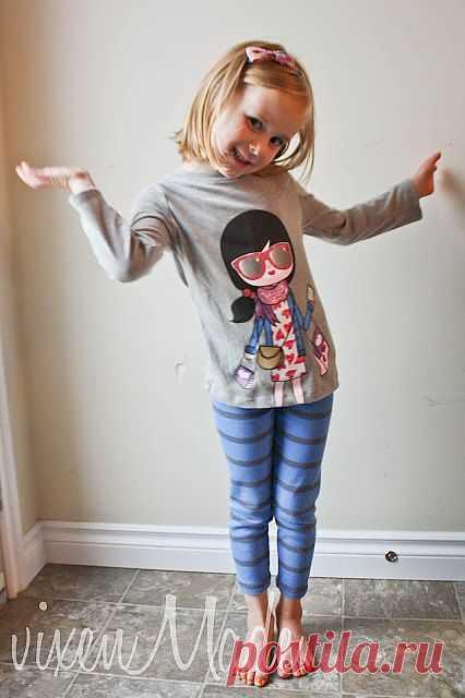 Леггинсы из футболки (DIY) / Для детей / Модный сайт о стильной переделке одежды и интерьера