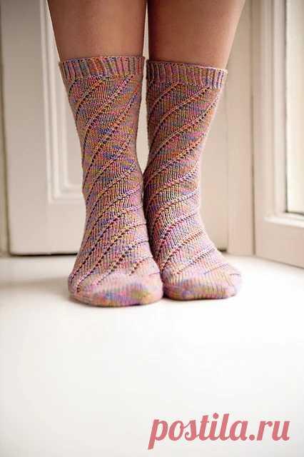 Вязаные носки «Brighton Rock» (Вязание спицами) – Журнал Вдохновение Рукодельницы
