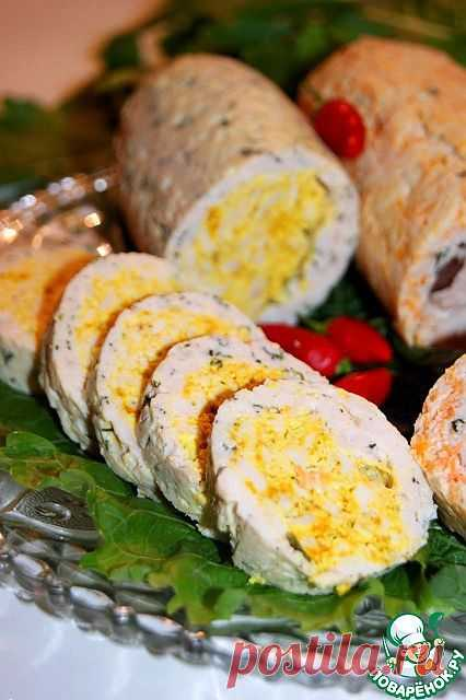 Chicken roll - a big scope for the imagination - the culinary recipe.\u000d\u000aIt appears, and dietary dishes happen tasty and various what I was convinced of and I hurry to share with you!