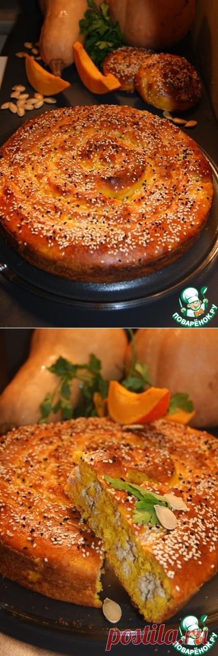 Тыквенный пирог с курицей – кулинарный рецепт