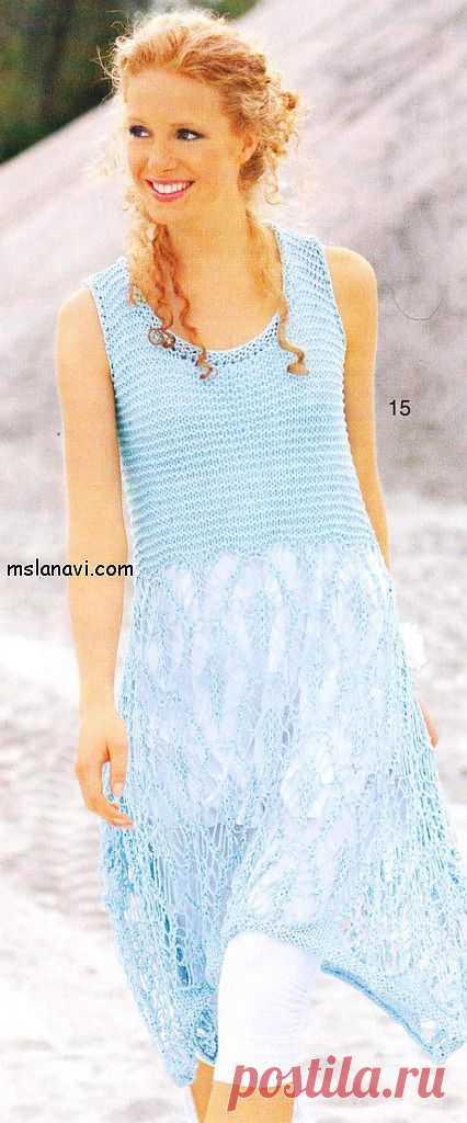 Воздушное ажурное платье | Вяжем с Ланой