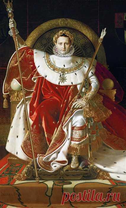 «Наполеон на императорском троне» картина - Жан Огюст Доминик Энгр
