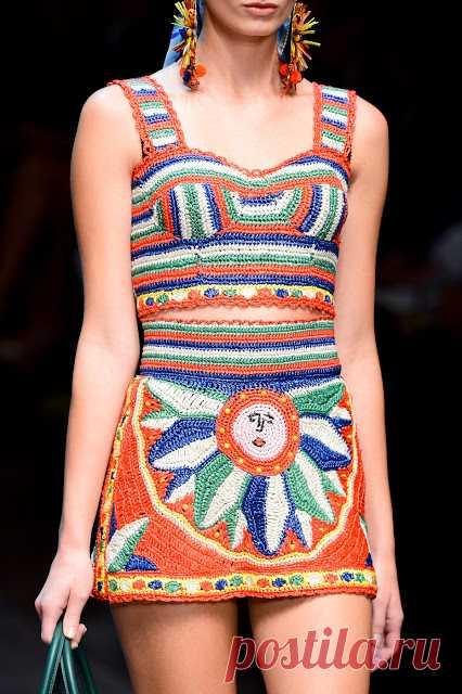 Dolce & Gabbana Spring /Summer 2013 | Вязаные модели: Вязание крючком и спицами