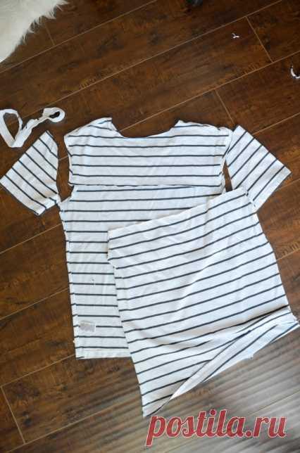 Переделка футболки (DIY) / Футболки DIY / Модный сайт о стильной переделке одежды и интерьера