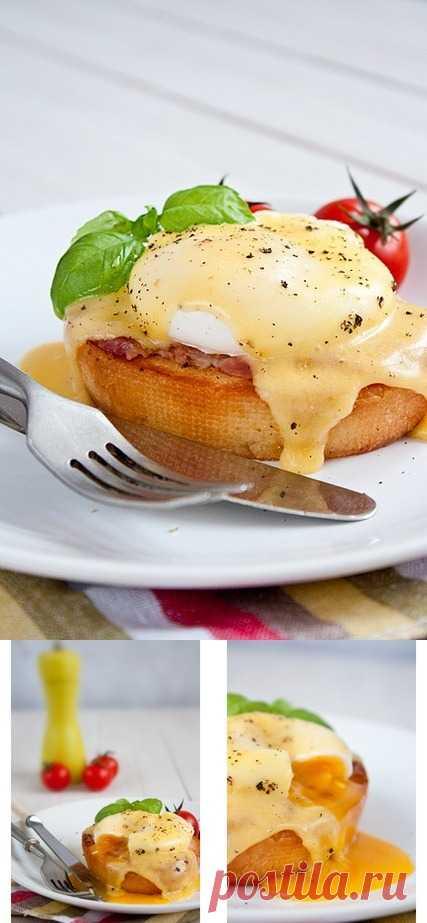 Яйцо Бенедикт. Великолепный завтрак (для получения рецепта нажмите 2 раза на картинку)