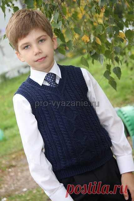 жилет для мальчика спицами про вязание вязаная одежда и