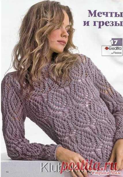 Красивые женские свитера и кардиганы спицами - Страна Мам