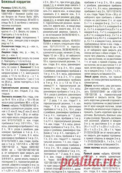 КАРДИГАН СПИЦАМИ С АРАНАМИ