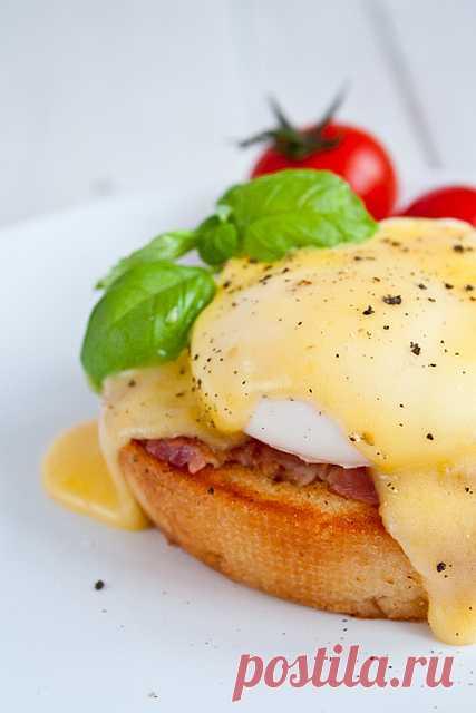 Завтраки: яйцо Бенедикт. (Рецепт по клику на картинку).