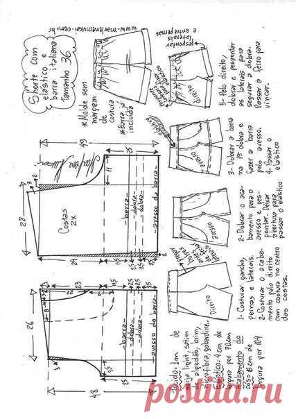 Женские шорты. Выкройка на евро размеры от 36 до 52 (Шитье и крой) — Журнал Вдохновение Рукодельницы