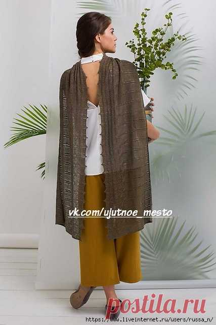 Spanish Moss Wrap by Little Church Knits